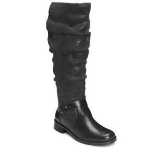 Aerosoles Ride With Me Black Slouch Tall Boots Sz6